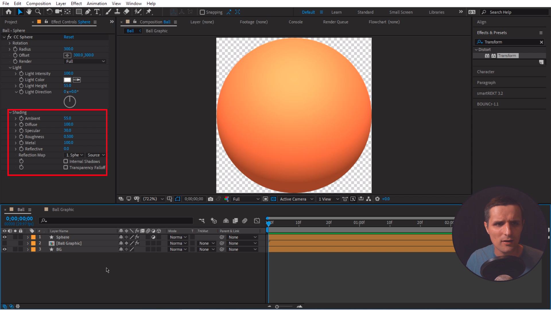 Shading After Effects Light