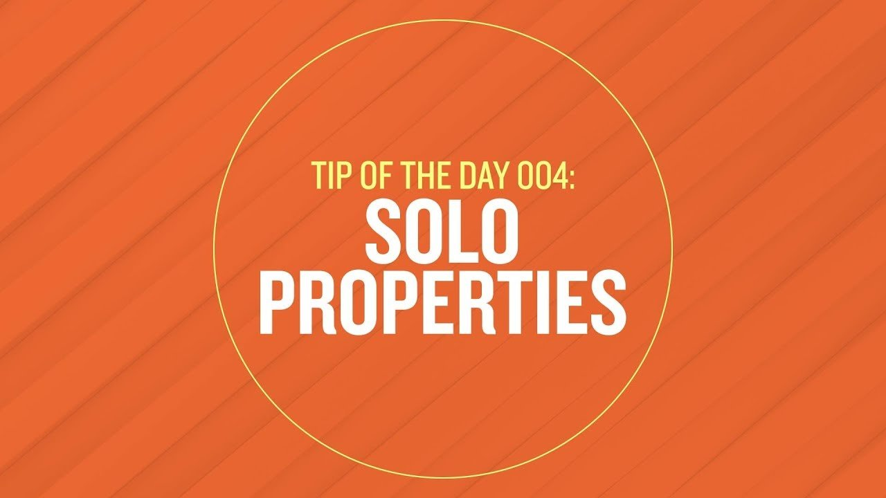 Solo Properties in After Effects