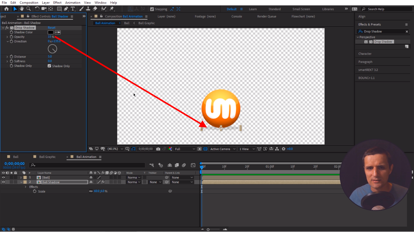 Subtle Shadow After Effects