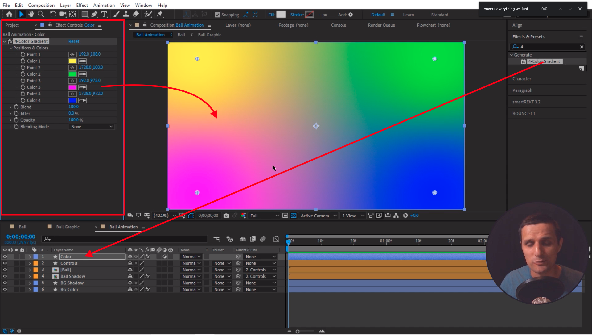 4-Color Gradient Effect After Effects